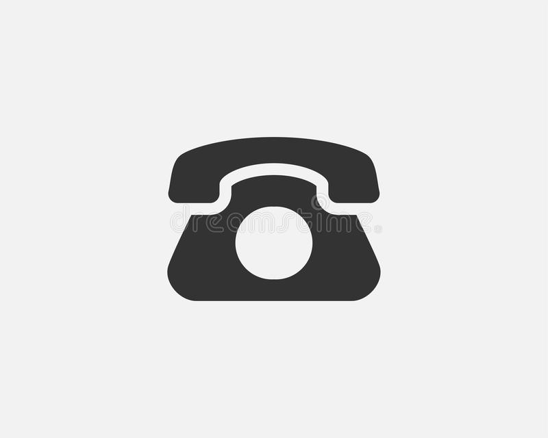 Phone icon vector illustration. Call center app. Telephone icons trendy flat style. Contact us line silhouette.  vector illustration