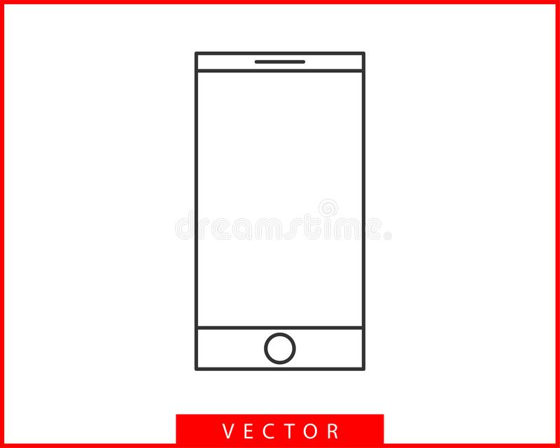 Phone icon vector illustration. Call center app. Telephone icons trendy flat style. Contact us line silhouette.  stock illustration