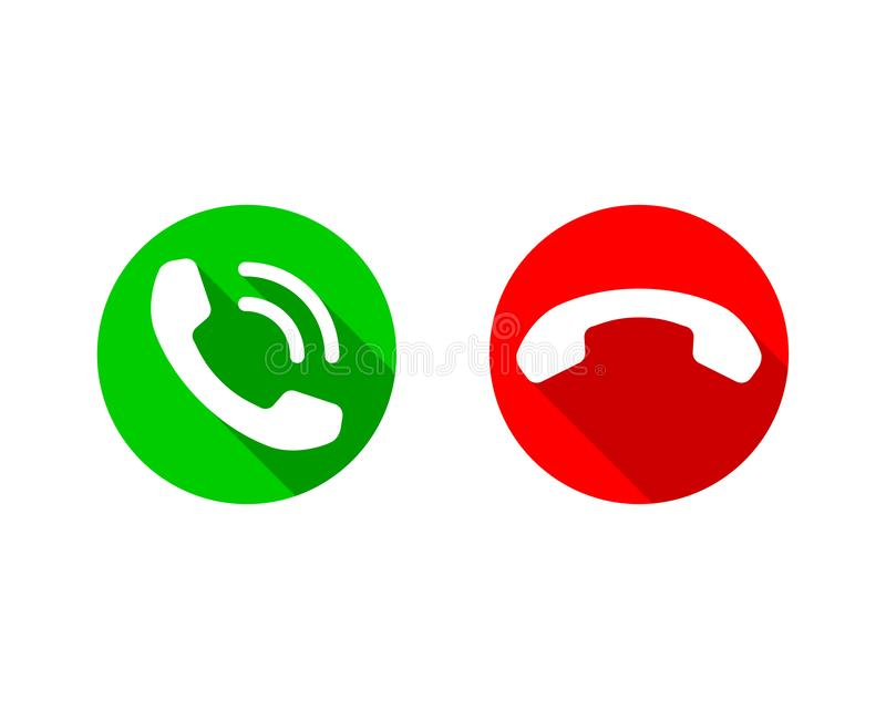 Phone icon vector illustration. Call center app. Telephone icons trendy flat style. Contact us line silhouette.  royalty free illustration