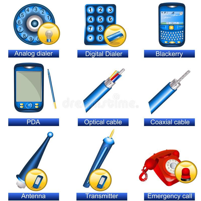 Phone Icons 5 Stock Photos