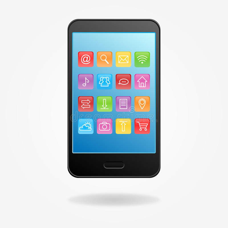Download Phone icons stock illustration. Illustration of icon - 34241985
