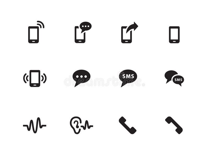 Download Phone Icons On White Background. Stock Vector - Image: 33445828