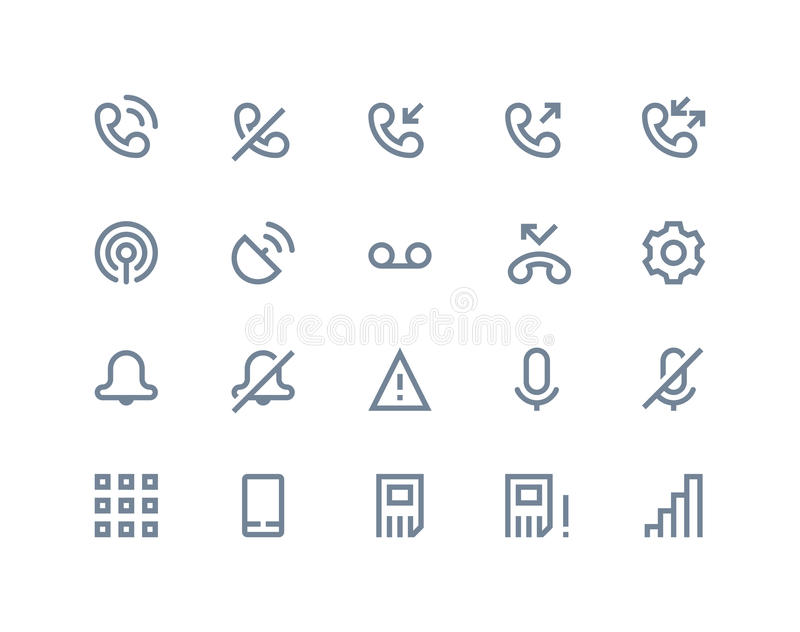 Phone logs icons. Line series vector illustration
