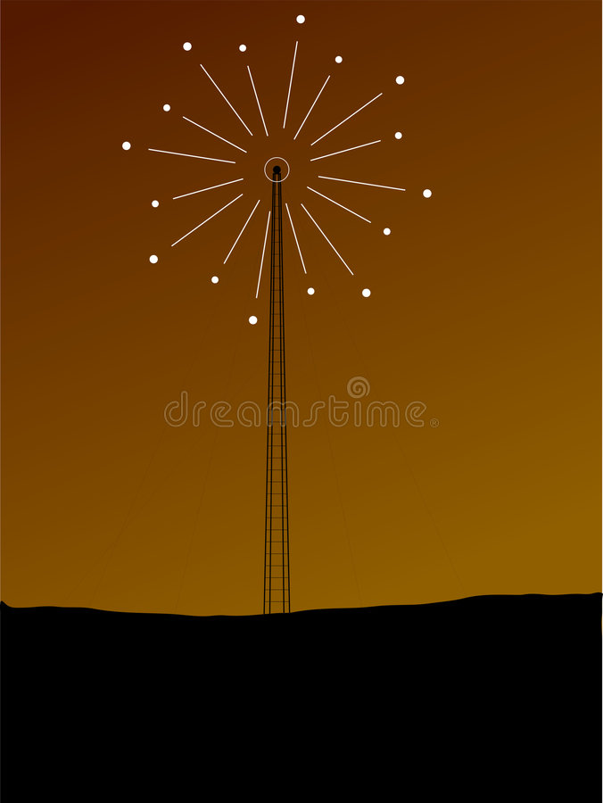 Download Phone mast signal stock vector. Image of cell, communications - 2625361