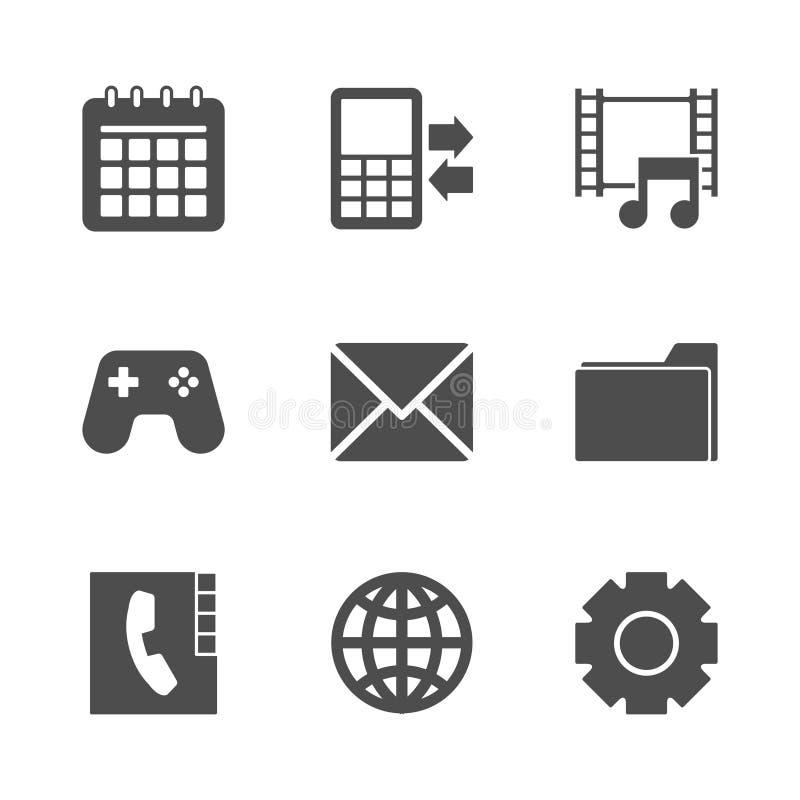 Phone Menu Icons Set. Editable EPS and Render in JPG format stock illustration