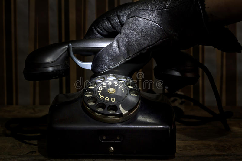 Phone at night abstract criminal concept royalty free stock photo