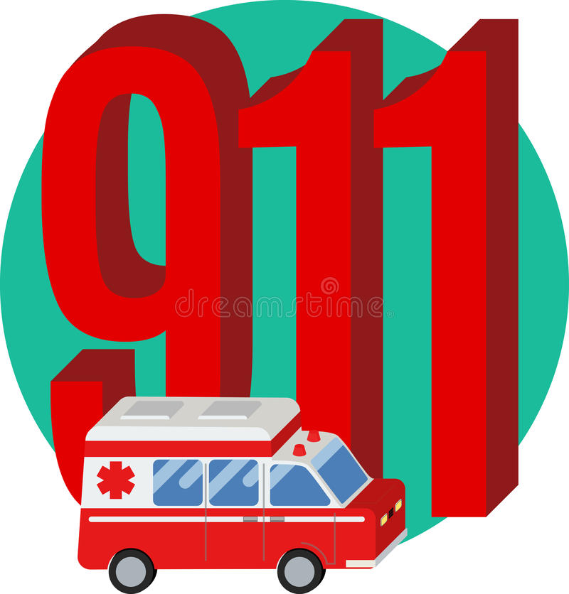 911 phone number royalty free illustration