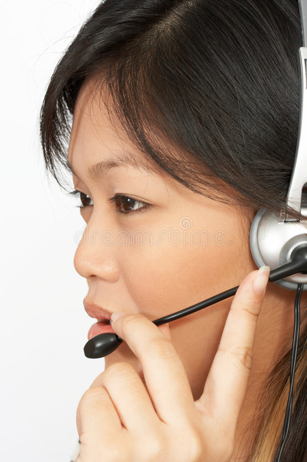 Phone operator royalty free stock photos