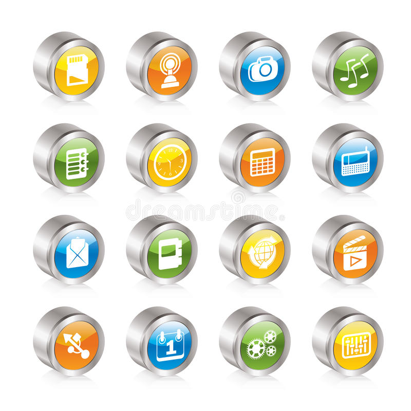 Download Phone  Performance, Internet And Office Icons Stock Vector - Image: 16710007