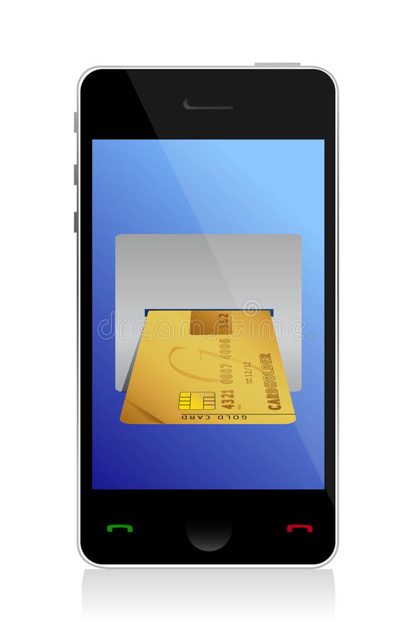 Download Phone Purchasing By Credit Cart Royalty Free Stock Images - Image: 28052939