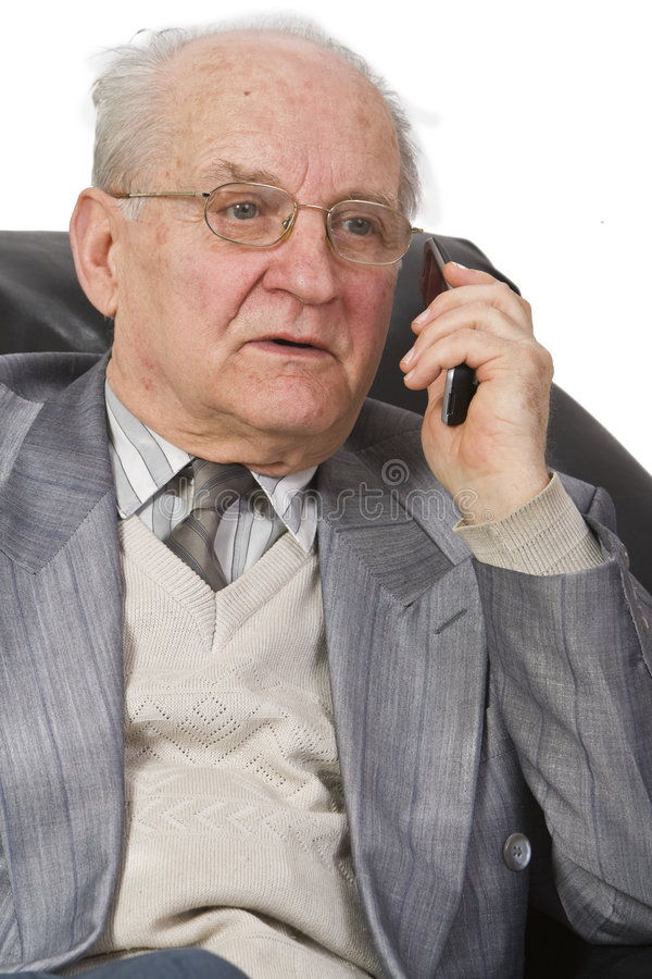 Download Phone reaction stock image. Image of pensioner, cellphone - 4431167