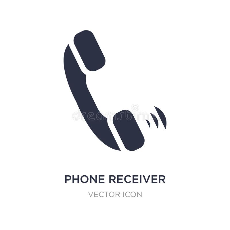 Phone receiver with icon on white background. Simple element illustration from Hardware concept. Phone receiver with sign icon symbol design vector illustration
