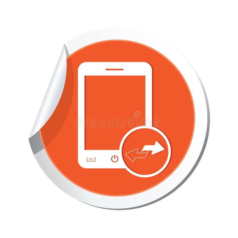 Phone with renew menu icon vector illustration