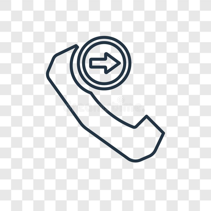 Phone with Right Arrow concept vector linear icon isolated on tr stock illustration