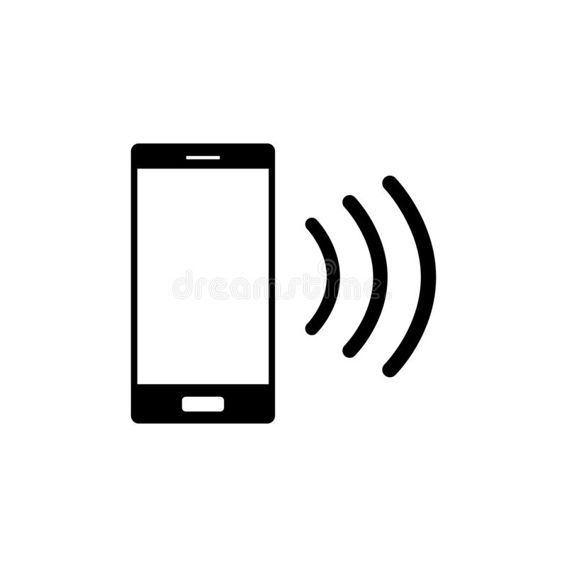Mobile phone ringing icon vector in modern flat style for web royalty free illustration
