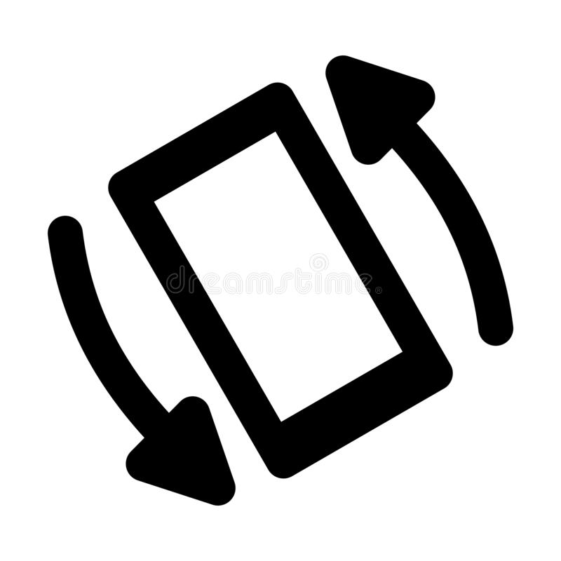 Phone Rotate Glyph - msidiqf royalty free illustration