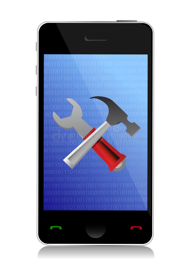 Download Phone setting tools stock illustration. Image of three - 28552645