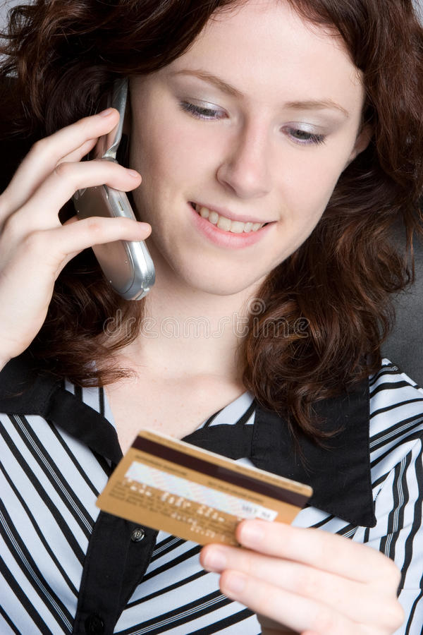 Download Phone Shopper stock image. Image of card, shopping, girl - 10184165