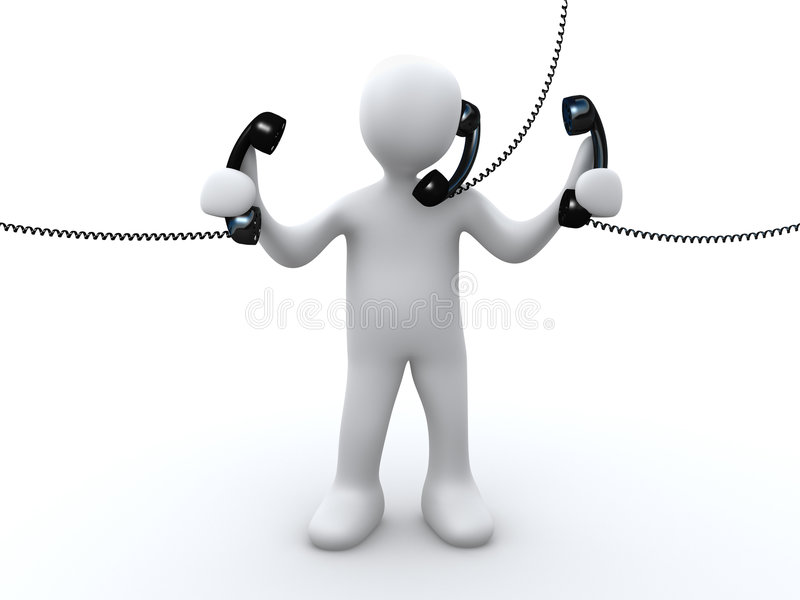 Phone Support stock illustration
