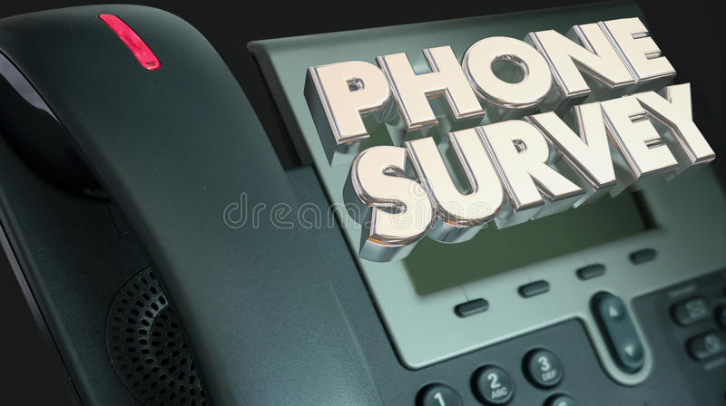 Phone Survey Ask Answer Questions Poll Respond. 3d Illustration vector illustration