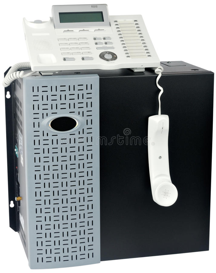 Phone switch system and telephone royalty free stock photography