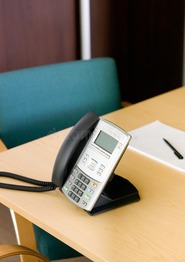 Download Phone On Table In Meeting Room Stock Photo - Image: 15270180