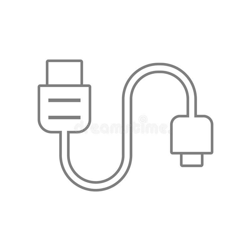 phone tablet cable icon. Element of web for mobile concept and web apps icon. Outline, thin line icon for website design and vector illustration