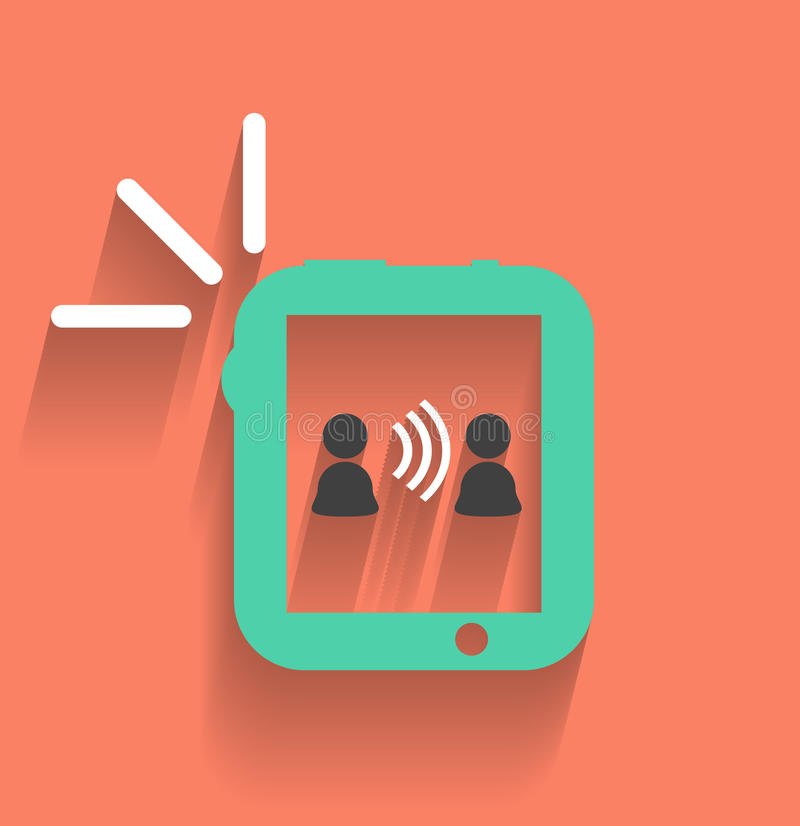 Phone / tablet communication icon vector illustration