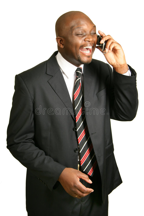 Download Phone talk. stock image. Image of african, bald, excitement - 7334845