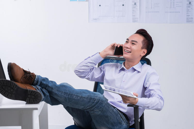 Phone talk stock image