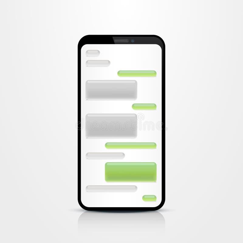Phone text message. stock illustration