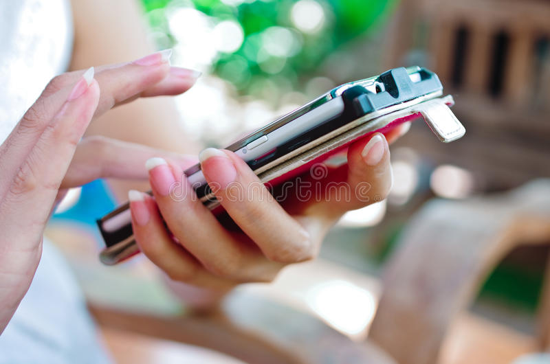 Download Phone touch screen stock image. Image of hand, surface - 26166513