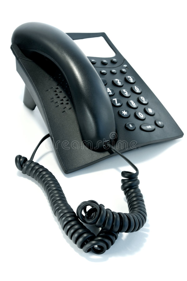 Download Phone With The Twirled Cord Stock Photo - Image: 1050064