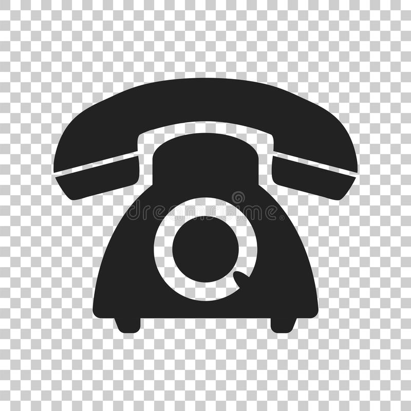 Phone vector icon. Old vintage telephone symbol illustration.  royalty free illustration