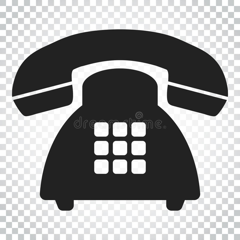 Phone vector icon. Old vintage telephone symbol illustration. Si. Mple business concept pictogram on isolated background royalty free illustration