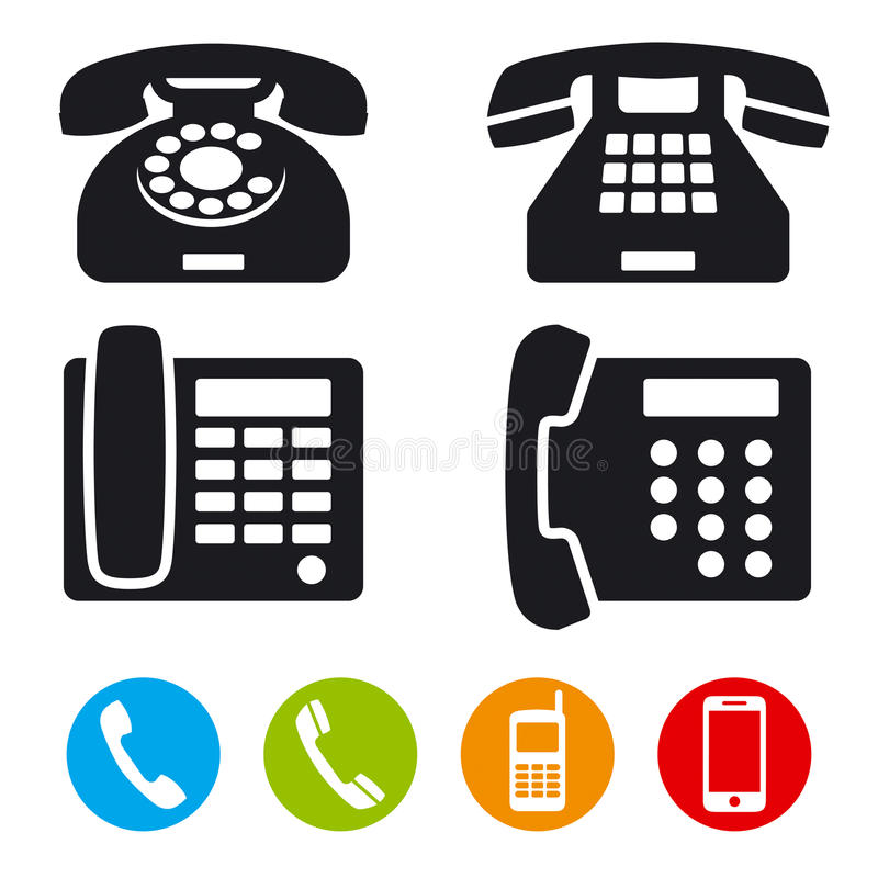 Free Phone Vector Icons Royalty Free Stock Images - 29573269