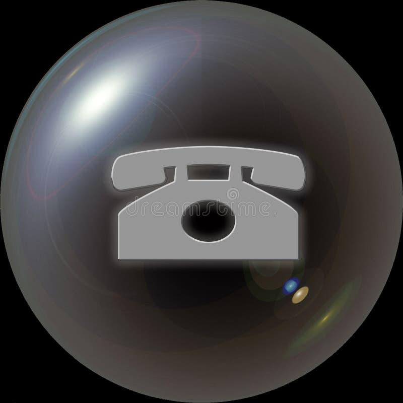 PHONE-WEB BUTTON. Grey Phone Button - Web Button - Internet Design stock illustration