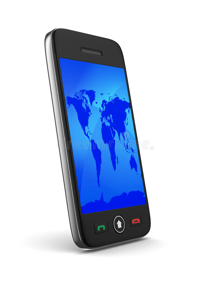 Download Phone On White Background Royalty Free Stock Photo - Image: 30260885