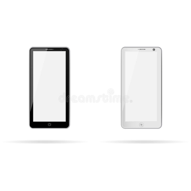 Phone white and black royalty free stock photography
