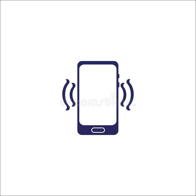 Phone and wifi icon isolated sign symbol. stock illustration