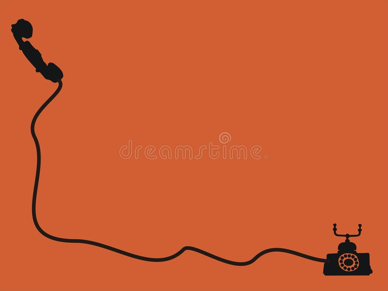 Phone with wire royalty free illustration