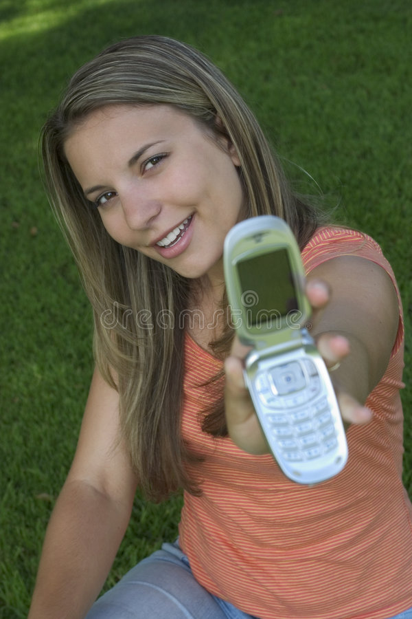 Download Phone Woman Royalty Free Stock Image - Image: 176706