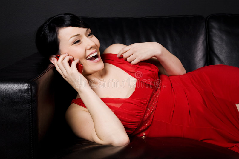 phone woman στοκ εικόνες