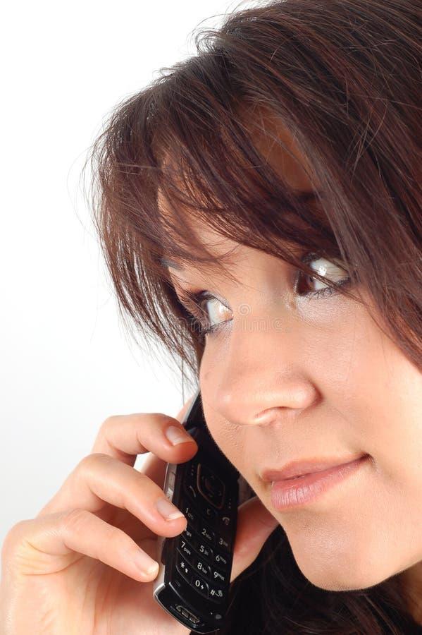 Phone woman #7 royalty free stock image