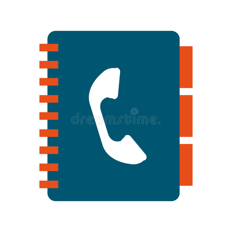 phonebook geïsoleerd pictogramontwerp stock foto's