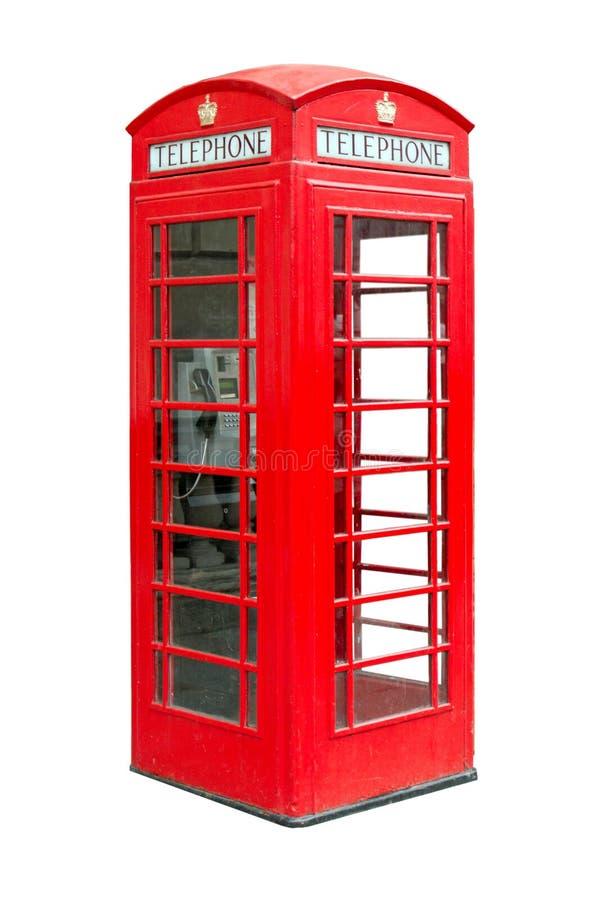 Phonebox público británico tradicional fotos de archivo