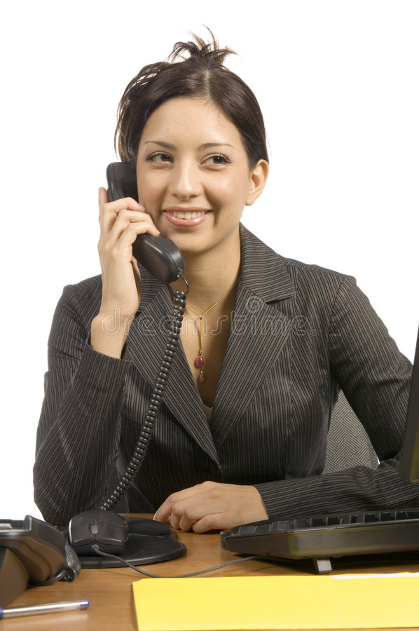 Phonecall com um sorriso foto de stock