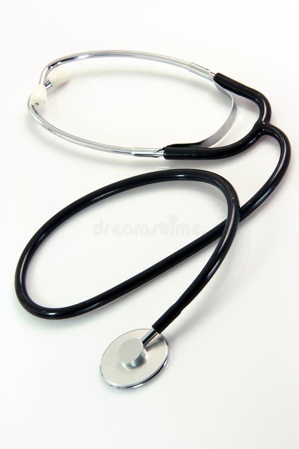 Phonendoscope. Auscultation phonendoscope health and medical objects isolated on white background royalty free stock photos