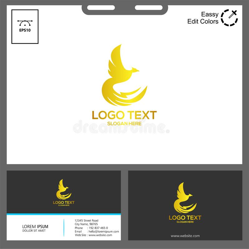 The simple concept of phonic logo vector. Phonic logo for technology industry can used in web, social media,etc royalty free illustration