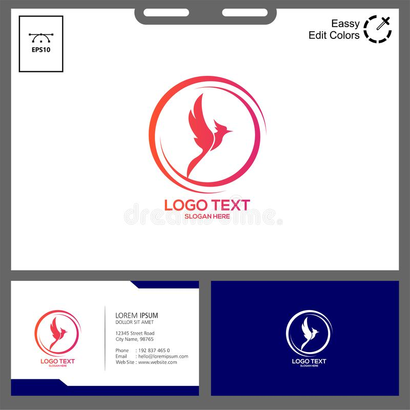The simple concept of phonic logo. Phonic logo for technology industry can used in web, social media,flayer,etc spectrum eagle flamingo sticker bird beak feather royalty free illustration